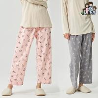 800313 여자 잠옷바지 다이마루 면 기모 파자마 국내생산