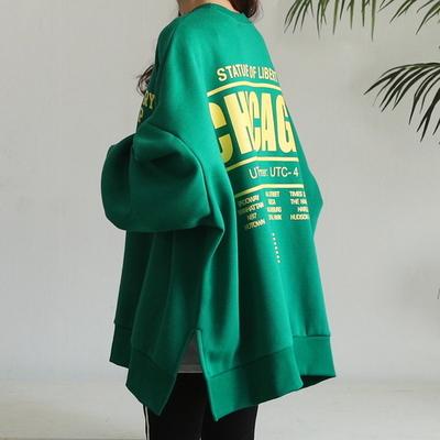 시카 박시핏 기모 맨투맨