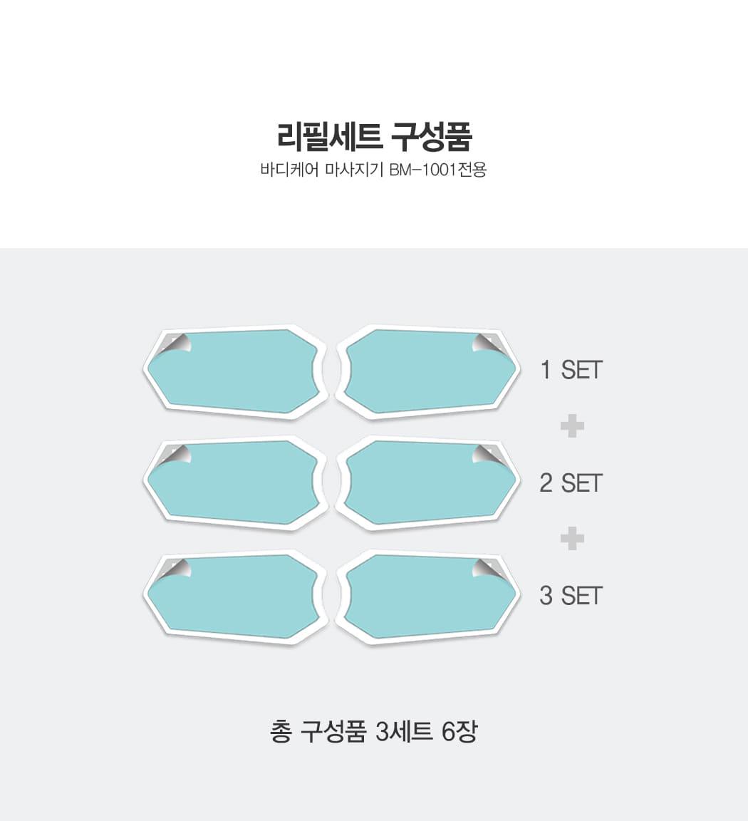 홍진영의 EMS 저주파마사지기 겔패드 1BOX (3SET) - 이로웰, 39,000원, 안마/교정, 부위안마기