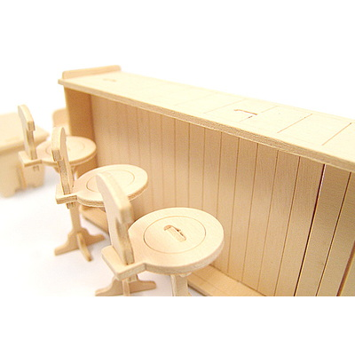 DIY나무조립모형인형가구BAR891