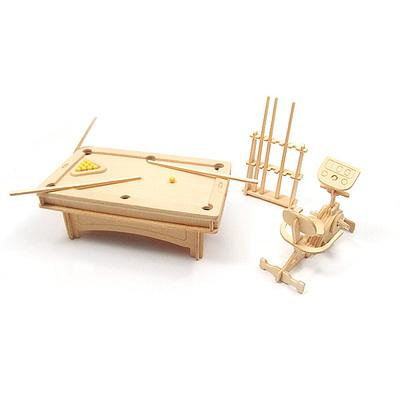 DIY나무조립모형인형가구Billiard893