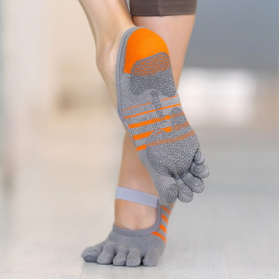 TOENTOE(토앤토) STRAP CLOSED TOE - GREY+ORANGE