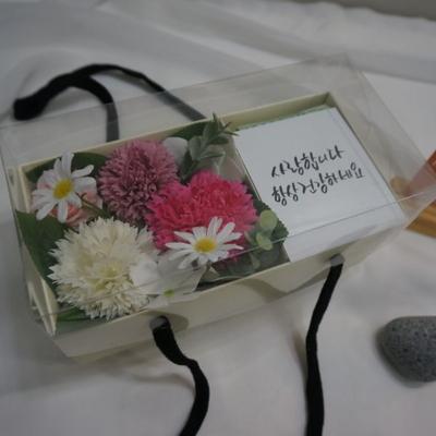 미니 카네이션 비누꽃 플라워박스