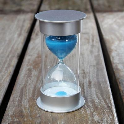 안전한 플라스틱 통아크릴 모래시계(블루)-30분용