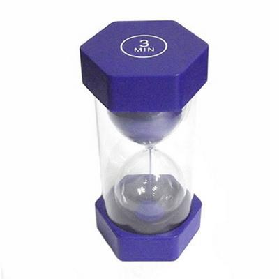 안전한 통아크릴 모래시계(육각형)(블루)-3분용