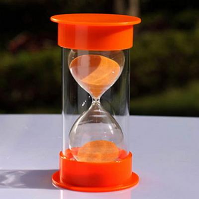 안전한 플라스틱 통아크릴 모래시계(오렌지)-30분용
