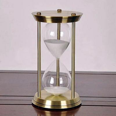 고급형 메탈엔틱(황동)모래시계(대)(화이트)(60분용)
