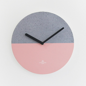 OBJECT CLOCK_CONCRETE-PINK