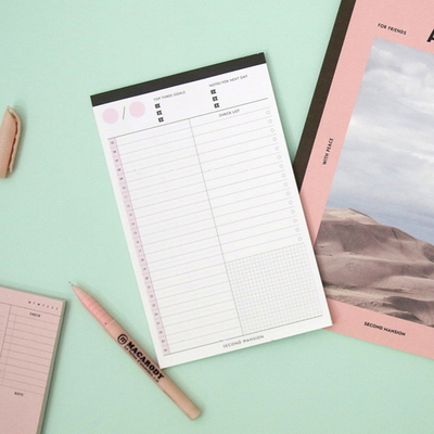 A5 PLAN NOTE PAD_TIME TABLE