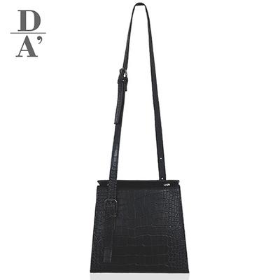 드로마 베니스백 여성 스퀘어 숄더 크로스백(블랙)