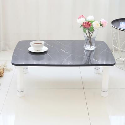 레인보우 LPM 4단 높이조절 라운드 접이식 테이블 특대 800 블랙대리석