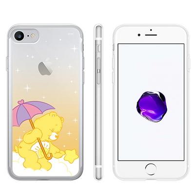 케어베어 레인보우 투명 젤리 케이스 아이폰 갤럭시 케이스