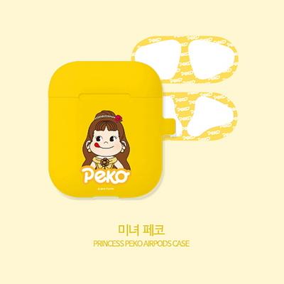 프린세스페코 에어팟 실리콘 케이스+철가루방지스티커 (세트)