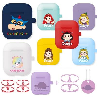 짱구 텔레토비 페코 시바 에어팟 실리콘 케이스+철가루방지스티커 (세트)