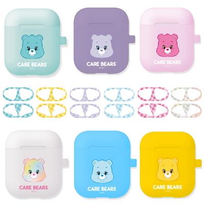 케어베어 곰 에어팟 실리콘 케이스+철가루방지스티커