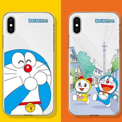 코쿼드 도라에몽 투명 젤리 케이스 휴대폰 커버