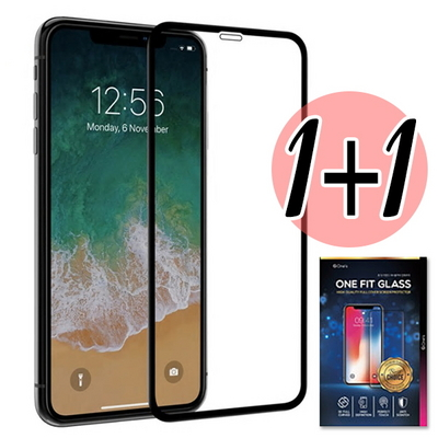 Ones (1+1) 아이폰 전면 풀커버 글라스 강화유리 보호 필름