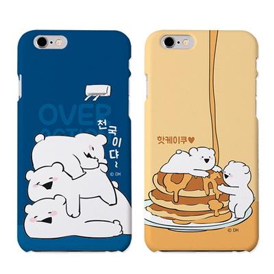 오버액션 곰 슬림 하드 케이스(b) 아이폰 갤럭시 LG 커버