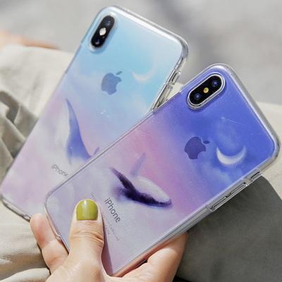 달빛고래 투명 젤리 케이스(tr) 갤럭시 아이폰 LG 케이스