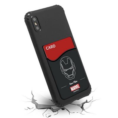 마블 블랙 포켓 아머 젤리 케이스 - 휴대폰 보호 카드 수납