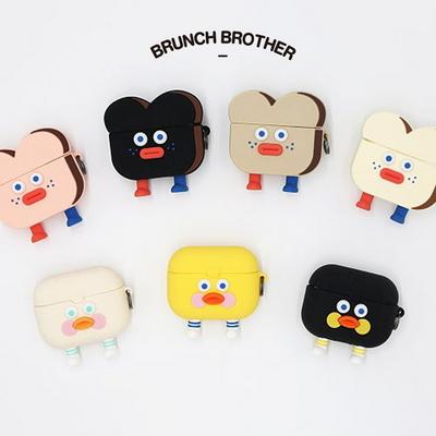 Brunch Brother 토스트 에어팟 프로 실리콘 케이스