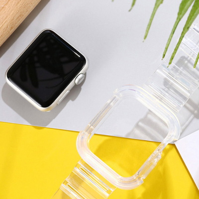 apple 워치 투명 스트랩 밴드케이스 38 40 42 44 mm