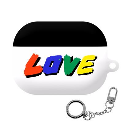 몬드몬드 LOVE 에어팟 프로 케이스 하드 커버 키링