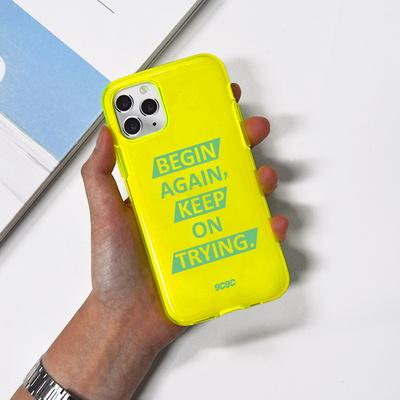 9C 비긴어게인 네온 형광 휴대폰 젤리 케이스