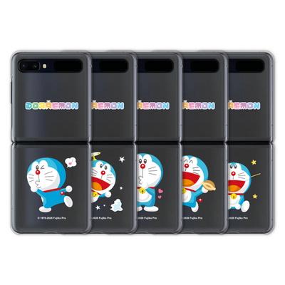도라에몽 갤럭시 Z플립 투명 하드 케이스 Z 플립 2 5g