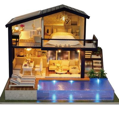 DIY 미니어쳐 하우스 수영장파티하우스