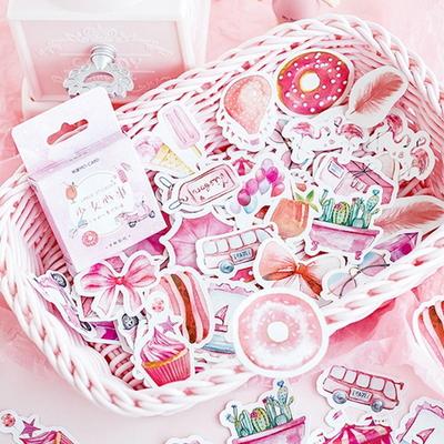 핑크감성 도무송 스티커