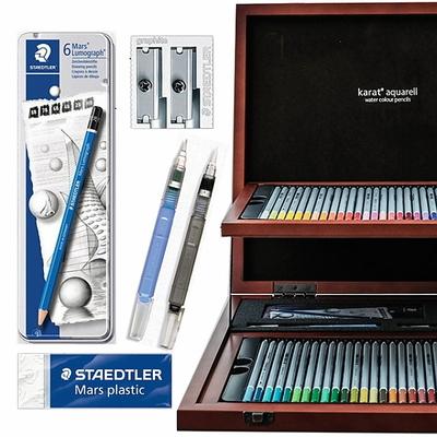 스테들러 카라트 수채 색연필 60색 우드케이스 125W60 전문가용 드로잉 기프트세트