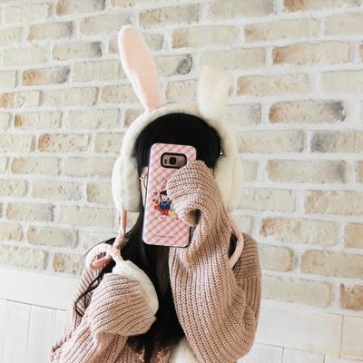 밍크털 움직이는 토끼 귀마개 겨울 귀마개