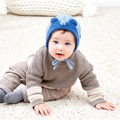 아기 겨울 기모 니트 보넷 요정모자 돌 선물 MA0928