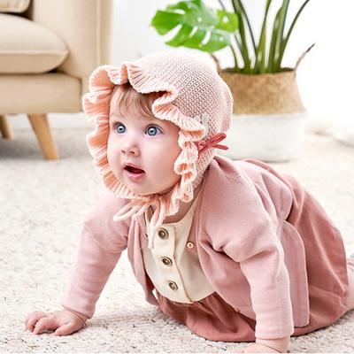 아기 겨울 기모 니트 보넷 요정모자 돌 선물 MA0929