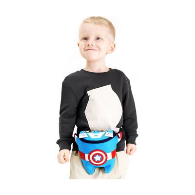 캡틴 피기백 힙색 마블 캡틴아메리카 캐릭터모형 가방