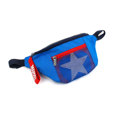 캡틴 체인지 힙색 마블 캡틴아메리카 방패 가방