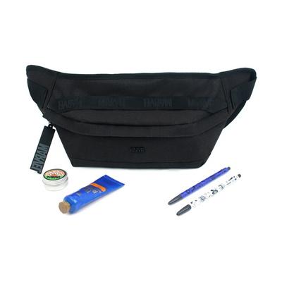 마블 심플 솔리드 힙색 블랙 마블 로고 가방