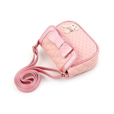 로라앨리 샤벳 크로스백 핑크 리본 토끼 어린이 가방