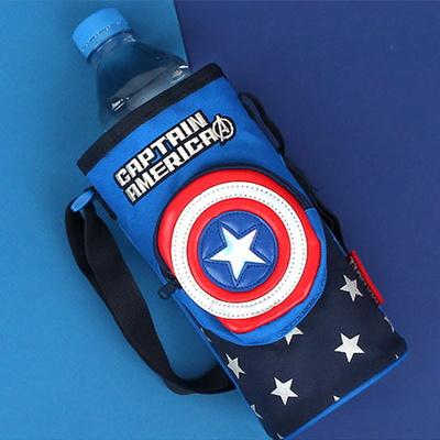 캡틴아메리카 방패 물병 크로스백 마블 히어로 가방