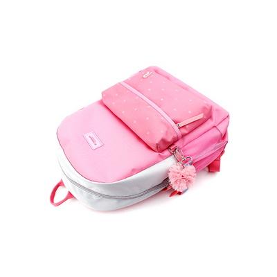로라앨리 스트랩 플랫 소풍가방 핑크 초등학생 책가방