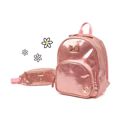 로라 앨리 글로시 백팩 핑크 리본 초등학생 책가방