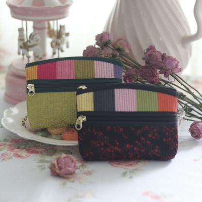 색동 누빔 동전 티슈 지갑(5colors)