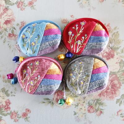 반달모양 한국풍 색동 동전 지갑(5colors)