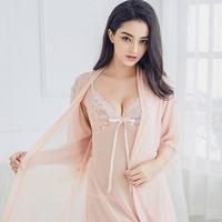이경희 섹시 란제리 레이스 슬립 가운세트 잠옷 여성