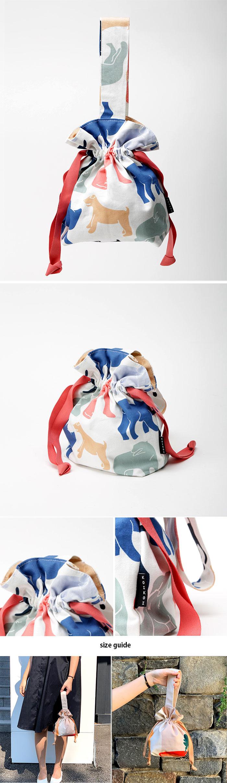 Playful dogs mini string bag - 코이코이, 28,000원, 캔버스/에코백, 에코백