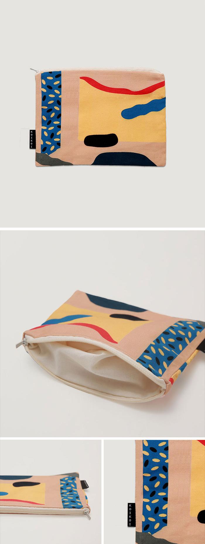 Cut outs small pouch - beige - 코이코이, 9,500원, 메이크업 파우치, 지퍼형