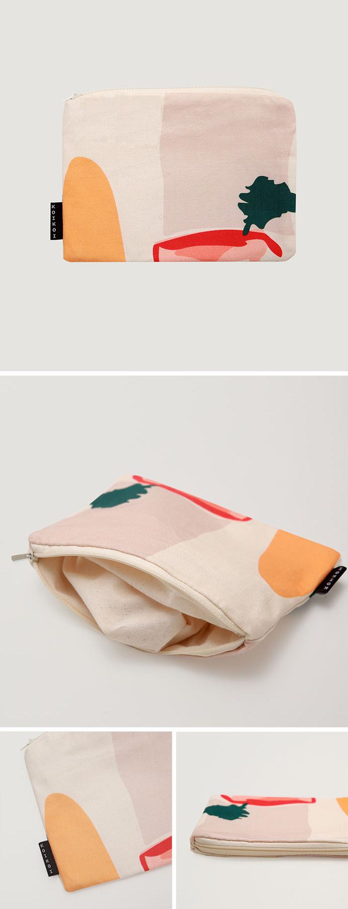 Daily scenery small pouch - 코이코이, 9,500원, 메이크업 파우치, 지퍼형