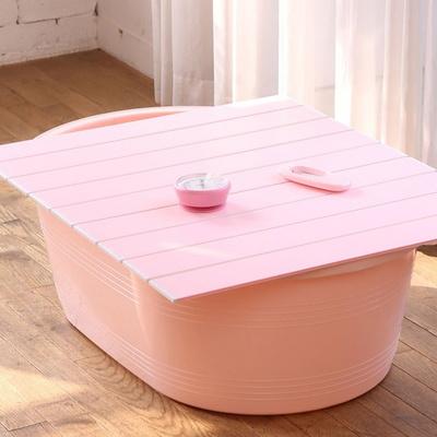 쉼표 하나 핑크 이동식욕조 풀세트 + 배수구
