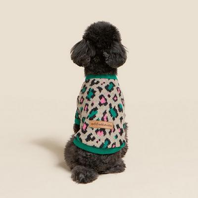 오드스튜디오 레오파드 스웨터 - 그린